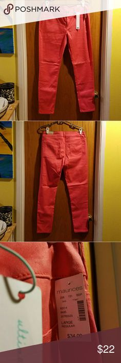 NWT Coral Maurice Jeggings Brand new never been worn before. Maurices Pants Skinny