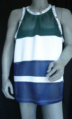 Vtg Tommy Sports Tank Tommy Hilfiger Men's Mesh Jersey XL White 90s Hip Hop Rare #TommyHilfiger #Tank