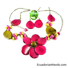 Perfect gift for all ages color scheme !! ‪#‎tagua‬ ‪#‎Jewelry‬