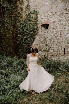9c537a01c2ca9e Deborah et sa robe en dentelle chantilly - Kamélion - Laetitia Drouet :  Créatrice de Robe de mariée à Nantes