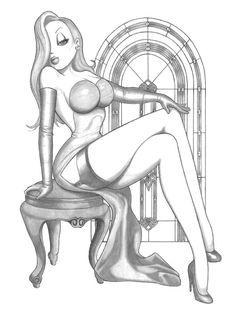 Jessica Rabbit Sitting Pretty by EricLinquist.deviantart.com on @deviantART