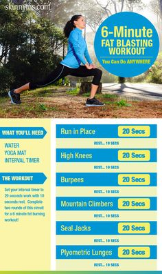 You can do this workout just about anywhere! #workout #anywhere #exercises