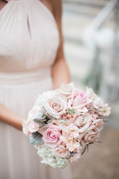 Pale Pink Bridesmaids Bouquet | photography by http://www.carrettophoto.com/
