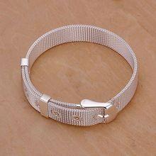 Darmowa wysyłka biżuteria posrebrzana bransoletka biżuteria bransoletka grzywny mody najwyższej jakości SMTH237 handel hurtowy i detaliczny(China)