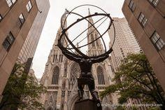 Atlas sostiene la catedral de San Patricio de #nuevayork  #nyc #manhattan #stpatrickscathedral
