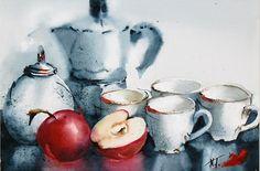 Sweet morning. acquerello by Nadia Tognazo
