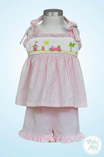 Your little gal will be the hit of the shoreline when she wears this to the beach!