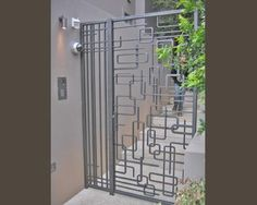 Example of a mid-century modern metal gate.