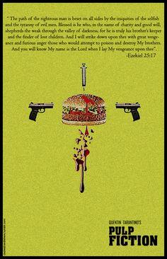 tarantino - my fav movie ! Old Movie Posters, Minimal Movie Posters, Movie Poster Art, Concert Posters, Old Movies, Great Movies, The Best Films, Tarantino Pulp Fiction, Quentin Tarantino