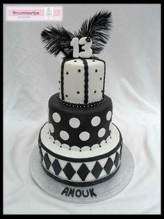 Black and white cake / zwart wit taart