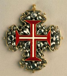 Gold, diamonds, and enamel insignia of the order of Christ, XVII-XVIII, Portugal
