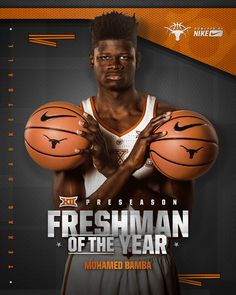 Texas Basketball Preseason Awards on Behance Web Design, Flyer Design, Sports Graphic Design, Sport Design, Team Schedule, Sports Posters, Football Posters, Sports Awards, Sports Graphics