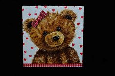 Decoupage medvídek Decoupage, Teddy Bear, Toys, Animals, Animales, Animaux, Gaming, Games, Animais