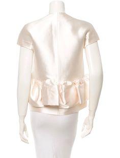 Balenciaga Ivory Silk Jacket Runway Size 38 Fall 2006 Nicolas Ghesquiere | #BALENCIAGA2006 #BALENCIAGA #NICOLASGHESQUIERE