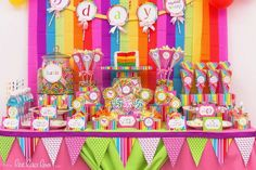 colorful candy buffet images | colorful candy buffet | Celebrate