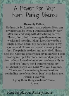 Divorce creeps into marriages and makes its mark too many times. We often pray after the papers have been signed or during the process when it becomes too much to bear.