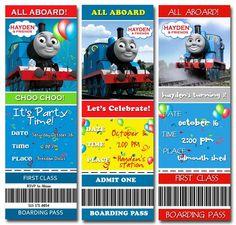 Thomas the Train Party Invite