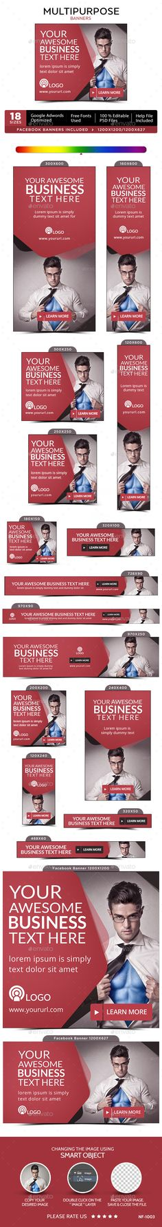 multipurpose web banners template psd download here http graphicriver net