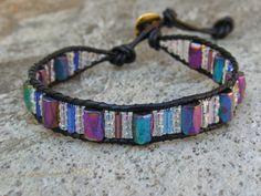 Women's Wrap Single Leather Hematite Magnetic Therapy Bracelet Jewelry