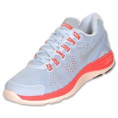 Nike LunarGlide+ 4 Shield Women's Running Shoes| FinishLine.com | Blue Tint/Silver/Crimson $60