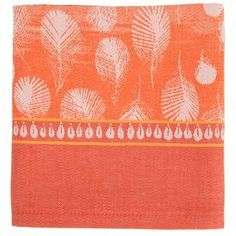 Water-resistant cotton table runner with a feather design in vermilion.Product: Table runner  Construction Material: 100% Cotton  Color:  Vermilion   Features: Features green sweet technology making it water resistant  Dimensions: 22 H x 59 W