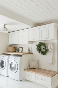 laundry room ideas, laundry room organization, laundry room design, laundry room decor ideas laundry Best Laundry Room Decorating Ideas To Inspire You - Page 28 of 53 - VimDecor Mudroom Laundry Room, Laundry Room Remodel, Laundry Room Cabinets, Farmhouse Laundry Room, Laundry Room Organization, Laundry Room Design, Organization Ideas, Laundry Decor, Storage Ideas