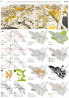 prize, Competition for new masterplan for Leśnica on Behance Architecture is a Pricey Segment! Site Analysis Architecture, Architecture Concept Diagram, Architecture Presentation Board, Architecture Panel, Architecture Graphics, Urban Architecture, Presentation Design, Urban Design Concept, Urban Design Diagram