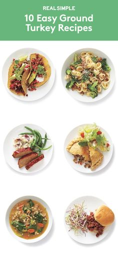 10 Easy Ground Turkey Recipes | Ground turkey is healthier than beef, less pricey than lamb—and, as you'll see from these recipes, fast-cooking and versatile, too.