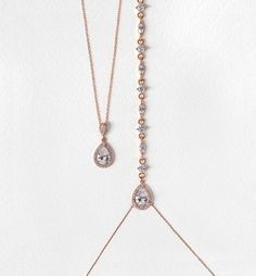 margaux marquise rose gold back pendant necklace