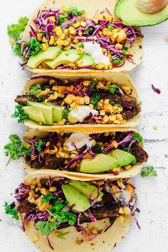Vegetarian Tacos, Vegetarian Recipes, Healthy Recipes, Healthy Meals, Healthy Food, Vegetarian Barbecue, Dinner Healthy, Vegetarian Cooking, Mexican Recipes