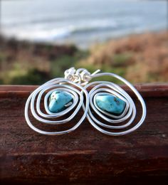 Turquoise Silver Spiral of Life Infinity by UnderTheTreeShop