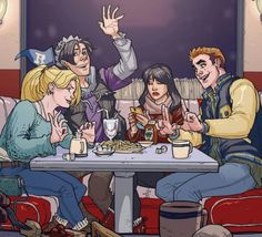 """""""The Riverdale Core Four at Poptates! Finally premiering tonight on CW at Tune in to catch Archie Andrews, Betty Cooper, Jughead Jones and Veronica Lodge come to life! Archie Comics Riverdale, Betty & Veronica, Betty And Jughead, Archie Andrews, Fan Art, Detective, Creepy, Concept Art, Princess Zelda"""