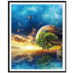 Galaxy Tree - 5D Diamond Painting Kit - 25X30cm