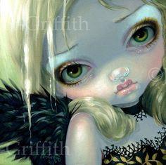 Fairy Face 214 Jasmine Becket Griffith Pop Art Goth Angel Faery Signed 6x6 Print | eBay