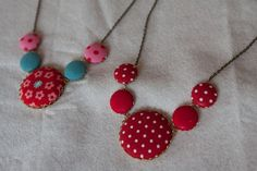 covered button necklace -want to make this!