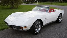 My Favorite Car of all time 1971 White Corvette Stingray with chrome trime, convertible.
