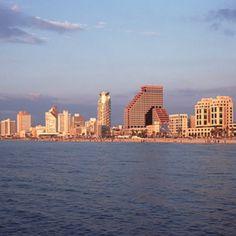 Beautiful coast line of Tel Aviv! We love Mediterranean Sea! www.facetozion.com