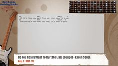 Do You Really Want To Hurt Me (Jazz Lounge) - Karen Souza Guitar Backing Track with chords and lyric