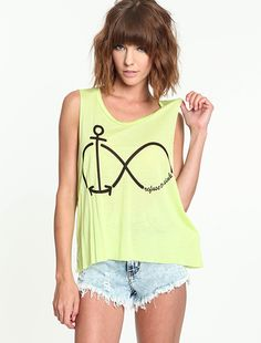 Neon Refuse to Sink Tee  $12.95  #muscletee #graphic #eternity