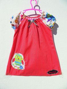 Vogel Bird Kleid Tunika Eulen Punkte  Sweet Mädchenkleid Dots 98 104 NEU