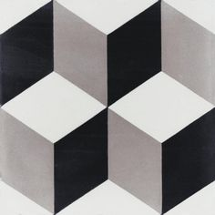 Villa Lagoon Tile Cubes A Sencillo 8 in. x 8 in. Cement Handmade Floor and Wall Tile (Box of sq.), Black/ White/ Gray with Matte Finish Cubes, Feature Tiles, Concrete Tiles, Handmade Tiles, Tile Patterns, Contemporary Decor, Tile Design, Wall Tiles, Bedroom Decor