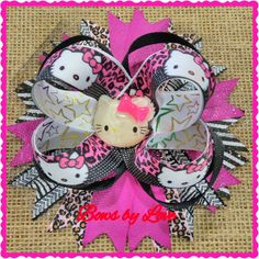 Hello Kitty  Hairbows  #bowsbylove