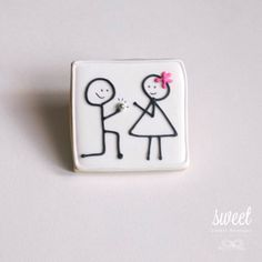 Engagement Cookie Favors // One Dozen Sugar by sweetcookieboutique