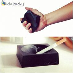 TUBBER ASHTRAY! Impossible to destroy, made from heat proof silicon, this is one tough ashtray! Available @tickytacky #Jordan  #GiftForHim #Unique #Gifts #Smoker #HouseGift #Awesome #Products #KSA #GCC #UAE #MENA