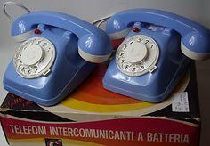 Vintage Toy Intercom House Phone Set of 2 In Origina Box Long Wire Italian Made £29.99