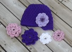 Newsboy Hat with Interchangeable Flowers