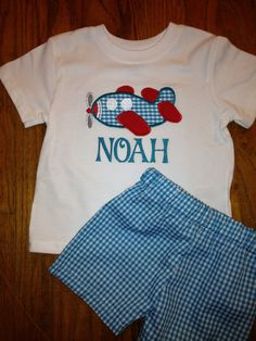 Baby and toddler boy airplane shirt and matching by CCApplesauce, $30.00