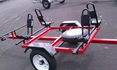 Another view of kayak trailer.