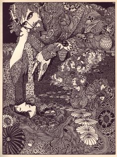 A stunning Harry Clarke illustration for Edgar Alan Poe's Tales of Mystery and Imagination