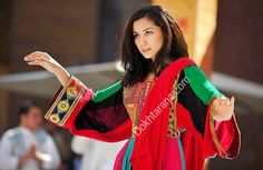 #afghan #national #colors #black #red #green #dress